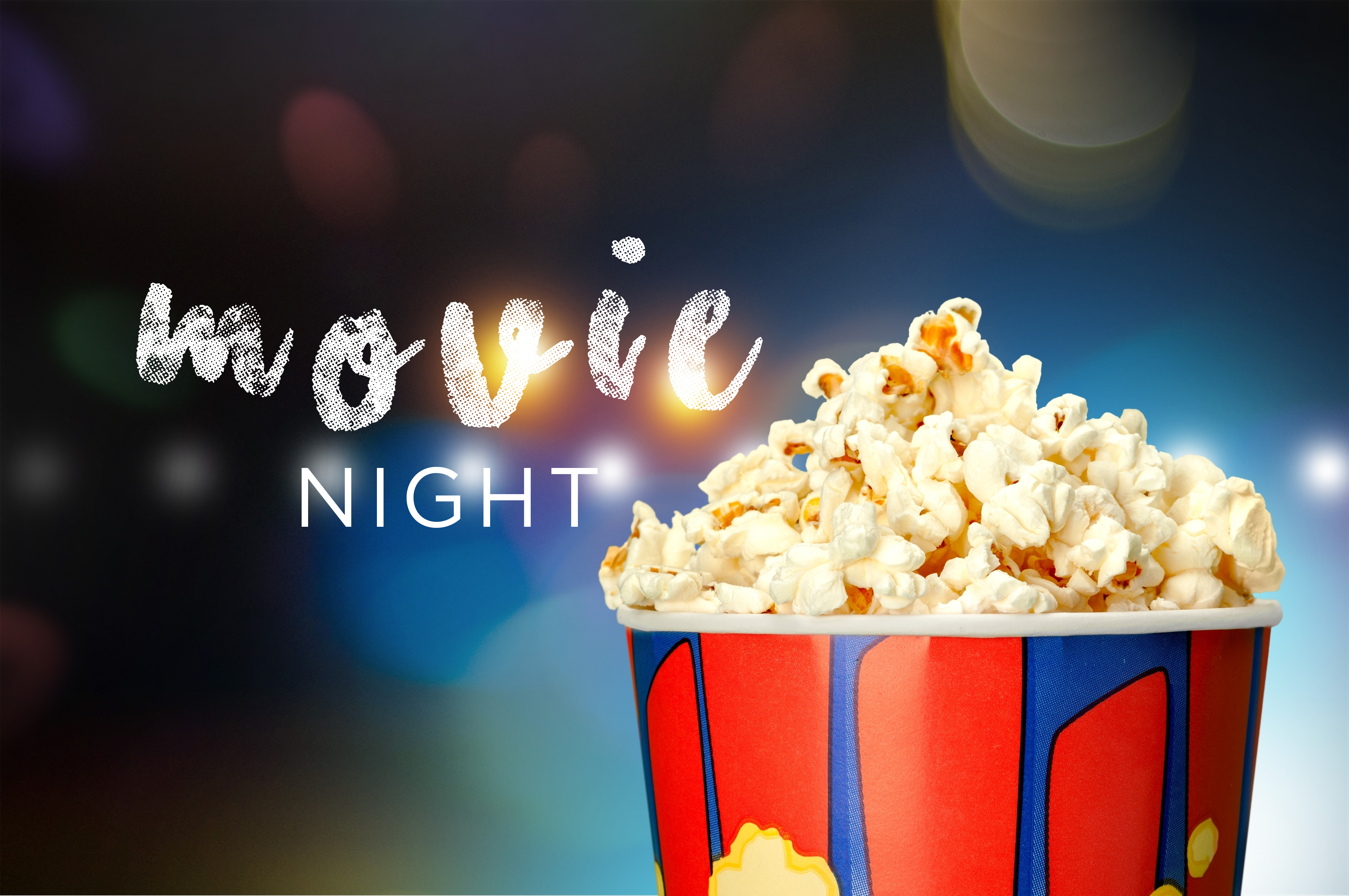 Cinema background with movie objects Vector Image ...  |Movie Night Page Background
